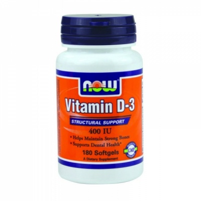 Витамины NOW Vitamin D- 400 IU 180 Softgels