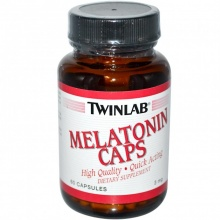 Антиоксиданты  Twinlab Melatonin 60 кап 3 мг