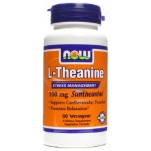 Л-Аргинин NOW Theanine 100 mg 90 кап