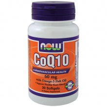 Антиоксидант NOW CoQ10 60mg Omega-3 30 капсул