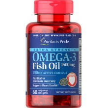 Витамины Puritan's Pride Omega-3 Fish Oil 1500 мг 60 кап