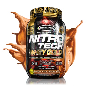 Протеин MuscleTech Nitro Tech 100% Whey Gold 1000 гр