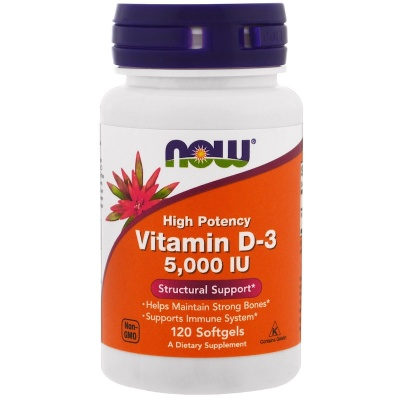 Витамины NOW Vitamin D3 5000 120 caps