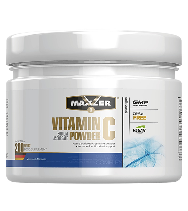 Витамины Maxler Vitamin powder C 200 гр