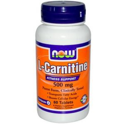 Л-карнитин NOW L-Carnitine 500 mg 60 t